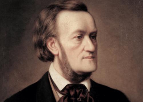Richard Wagner'ın renkli bir portresi.