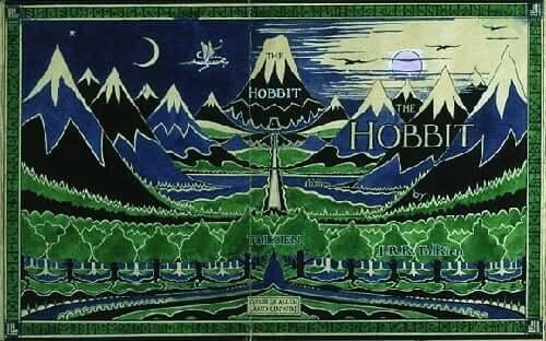 Hobbit kitabının kapağı.