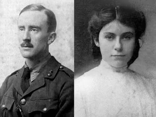 Tolkien ve Edith'in fotoğrafları.