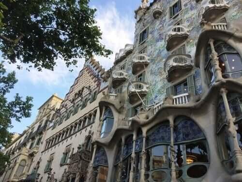 Antoni Gaudí tarafından yapılan Casa Batlo