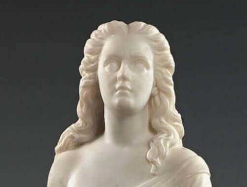Edmonia Lewis tarafından yapılmış bir heykel