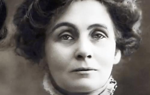 Emmeline Pankhurst'ün gençliğinden bir fotoğraf.