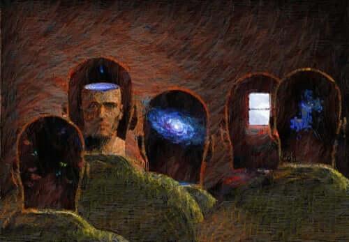 Şeffaf zihinler temalı bir tablo.