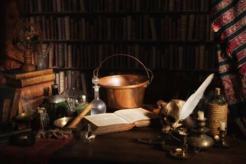Merlin'in kütüphanesini temsil eden bir fotoğraf.