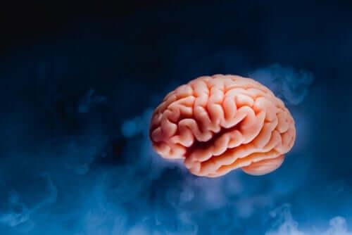Soyut bir beyin çizimi.