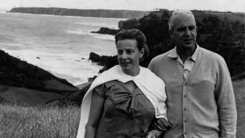 severo ochoa ve eşi sahilde