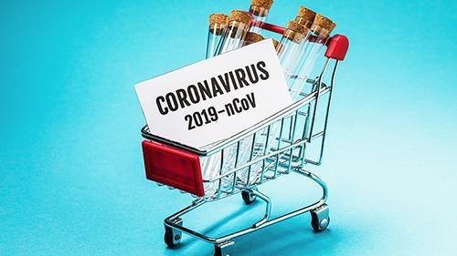Koronavirüs ve market arabası