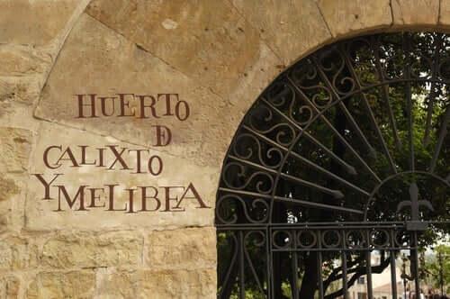 Calisto ve Melibea bahçesine açılan kapı