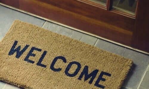 hoş geldiniz paspası