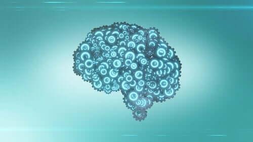 çarklardan oluşan beyin figürü