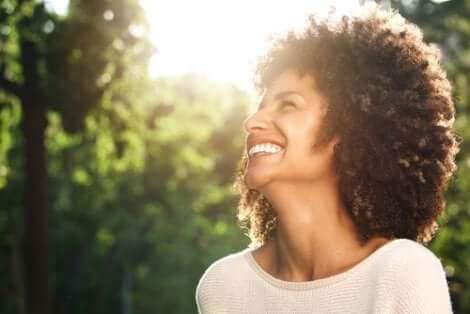 Mutlu bir kadın