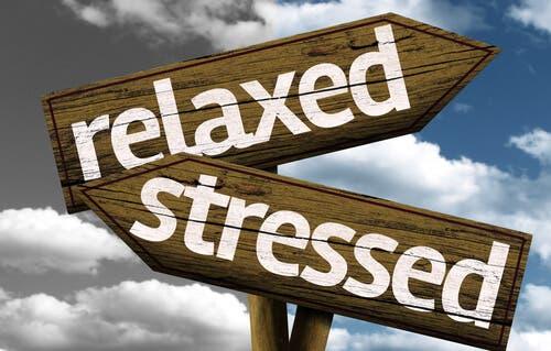 rahat ve stresli