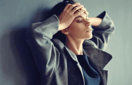 stresli bir kadın