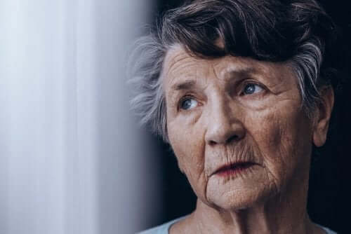 LATE demans: endişeli kadın