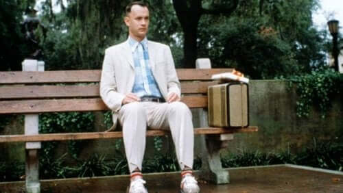 Forrest Gump filminden bir sahne.