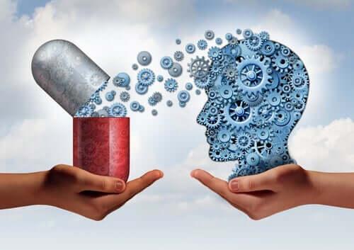 İlaçların insan zihni üzerindeki etkisini temsil eden bir görsel.