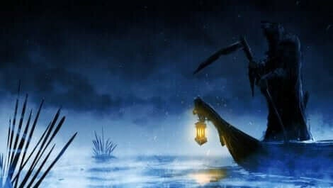Kayıkçı Charon kayığı ile ruhları toplamaya gidiyor.