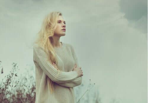 Hayalleri yıkılan bir kadın