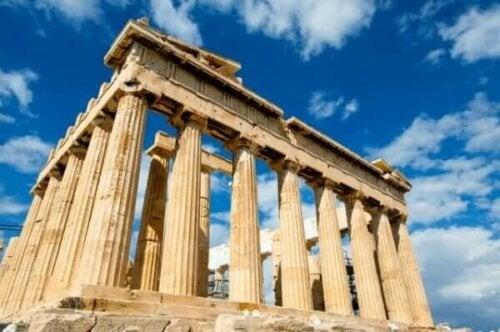 Yunanistan'daki bir tarihi eser.
