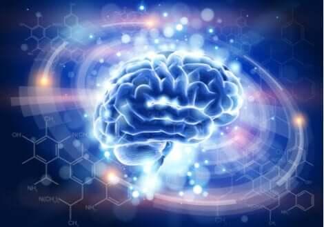 ışıklı mavi beyin görseli ve nöroplastisite ve travma sonrası stres