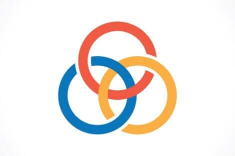 borromean düğümünün temsili gösterimi olan sembol