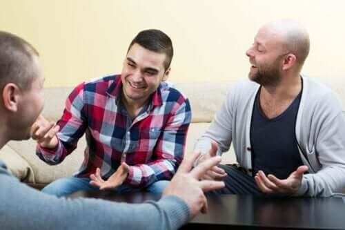 Arkadaş arasında samimi sohbet