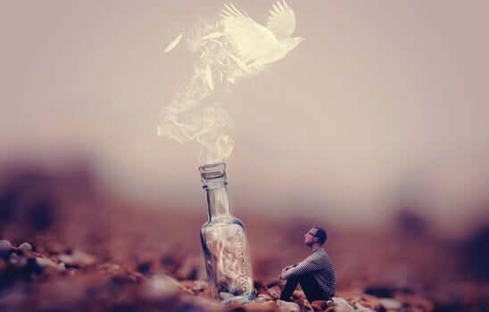 şişeden çıkan güvercin