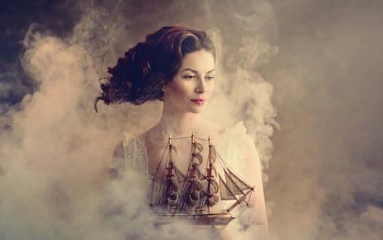 gemide kadın
