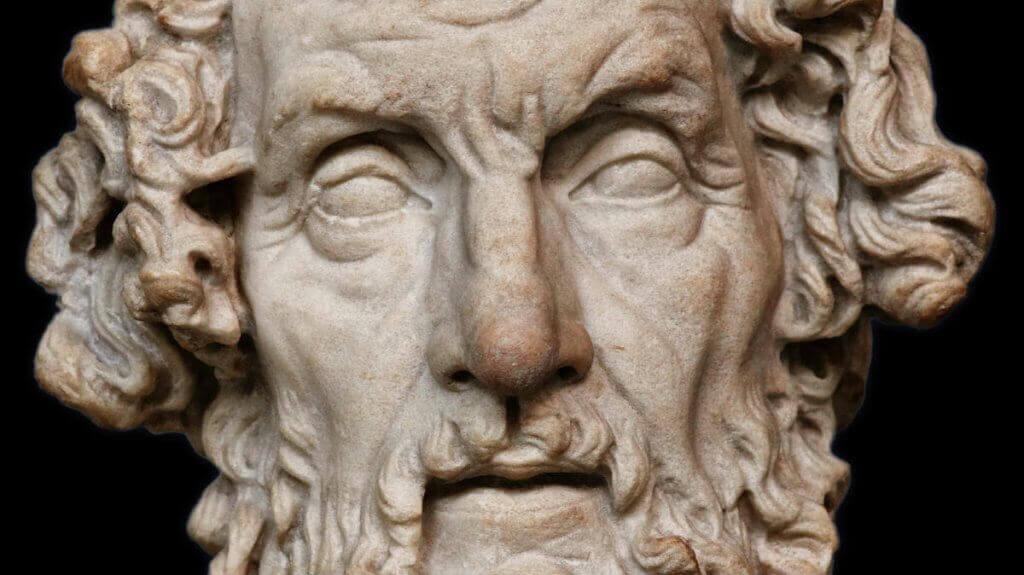 Homerin heykeli