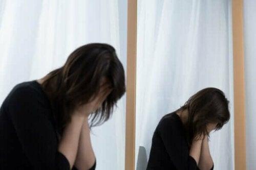 Stresli bir kadın.