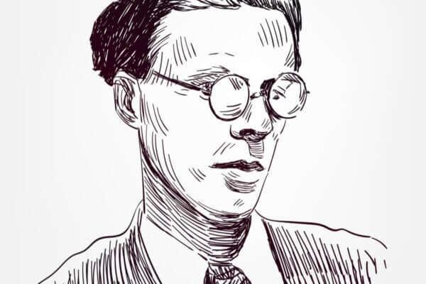 Aldous Huxley çizilmiş portresi