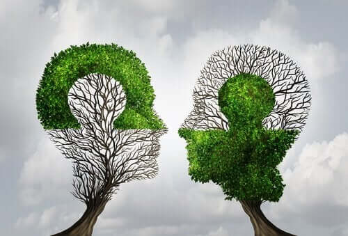 yapboz olan iki kafa ağacı