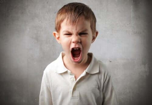 avazı çıktığı kadar bağıran çocuk
