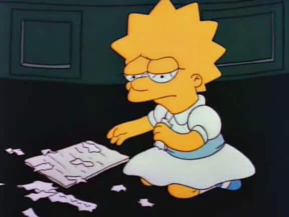 üzgün Lisa Simpson
