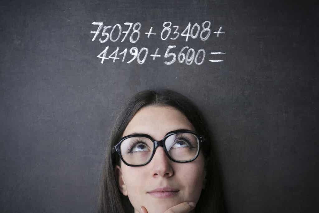 matematik işlemi ve kadın